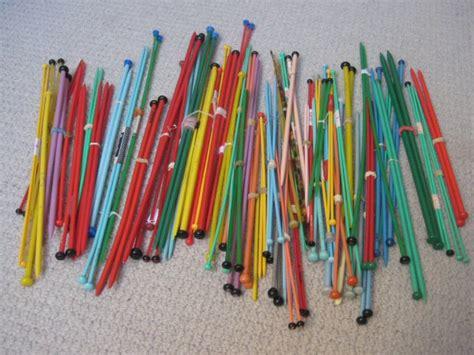 knitting needles plastic vintage plastic knitting needles