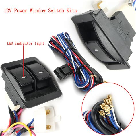 Switch Power Window Aerio 6pcs 12v universal power window switch kits with installation wiring harness alex nld