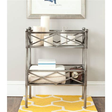 safavieh american home shelves silver storage furniture