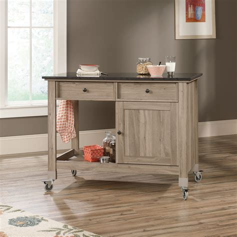 mobile island kitchen sauder select mobile kitchen island 417089 sauder