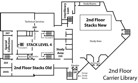 University Library Floor Plan by James Madison University Libraries Floor Plans