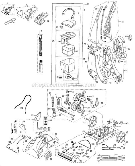 bissell proheat parts diagram bissell 8910 parts list and diagram ereplacementparts