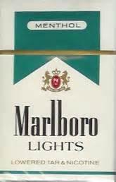 cigarettes marlboro lights menthol 50x10x20