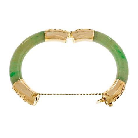 green jadeite jade gold bangle bracelet for sale