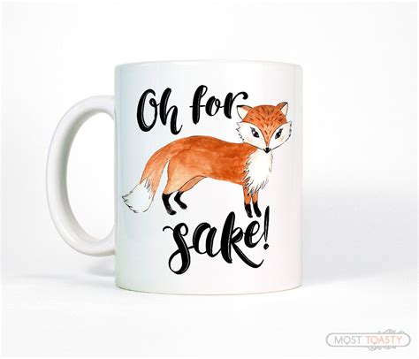 Cute Fox White Ceramic Mug Wife Gift for Her by MostToastyGoods