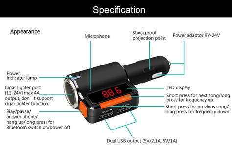 Quality 4in1 Car Charger With Dual 31a liander fm transmitter for car bluetooth