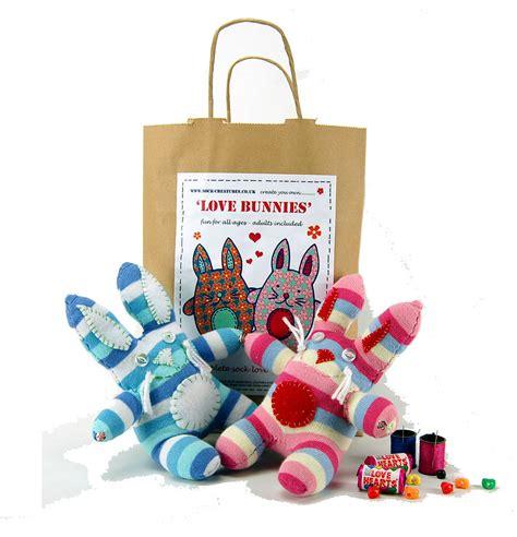 sock bunny craft kit bunnies sock creature craft kit by sock creatures notonthehighstreet