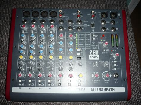 Mixer Allen Heath Zed 10fx allen heath zed 10fx image 368493 audiofanzine