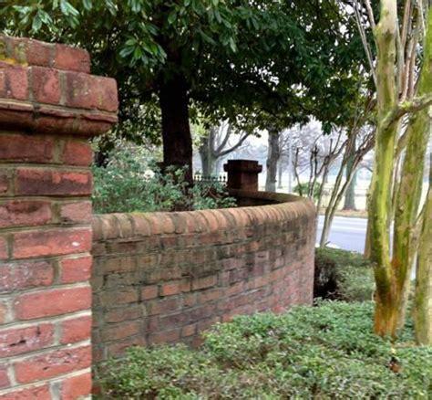 curved garden wall brick galleries