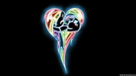 glow in the pony rainbow dash pony glow wallpaper by stollen99 on