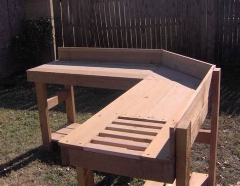 corner potting bench new all cedar corner potting bench plant gardening benches