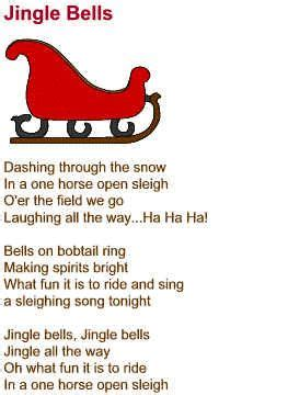 printable lyrics jingle bell rock day 29 a song from my early childhood jingle bell song