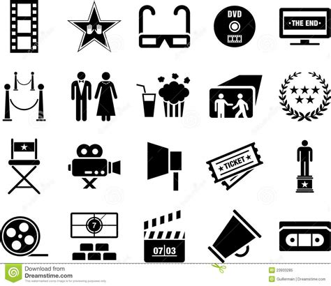 Icon Cinema Gift Card - cinema icons royalty free stock photo image 23933285