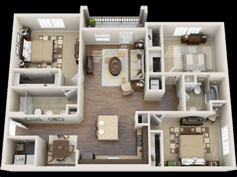 One Bedroom Apartment Designs by 3 Bedroom Apartments Youtube