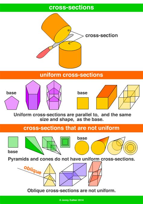 cross sections definition section cross section a maths dictionary for kids quick