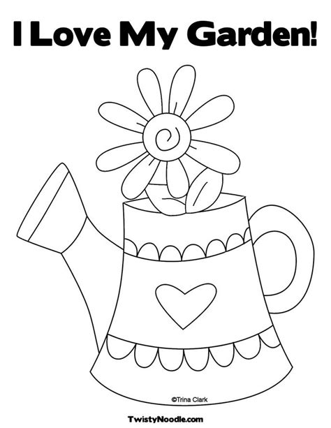 My Garden Coloring Page | watering garden coloring pages coloring pages