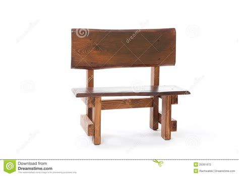 small white bench a small wooden bench on a white background stock