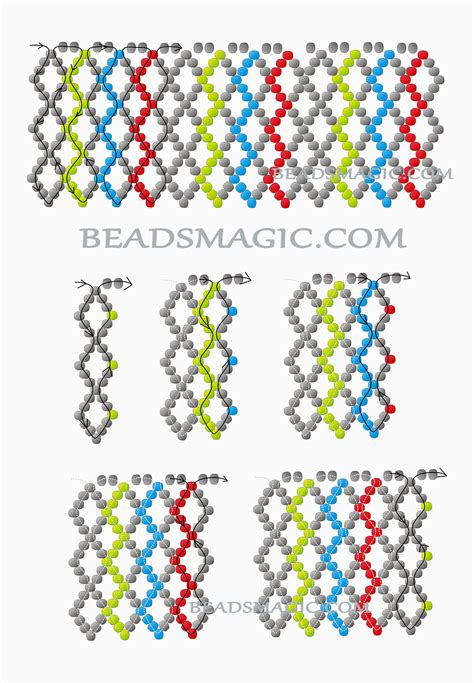 pattern magic tutorial free pattern for necklace colors beads magic