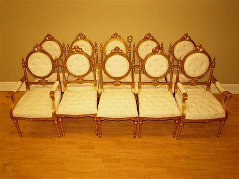 antique french victorian dining room chairs set