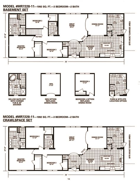 schult timberland 7228 11 modular manufactured home plans