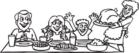 family dinner coloring page thanksgiving dinner coloring page happy easter