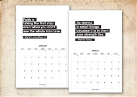printable calendar with inspirational quotes calendar quotes quotesgram
