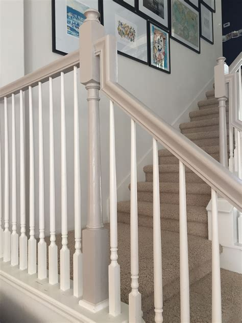 banister designs chalk paint bannister the house of figs pinteres