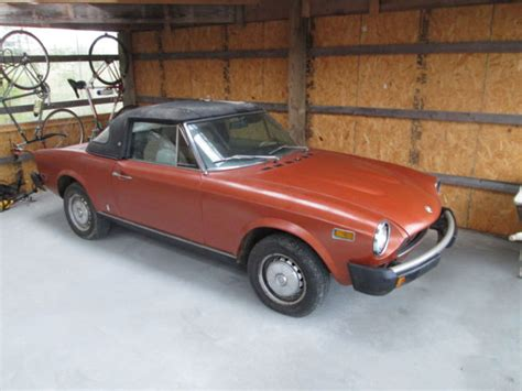 1977 fiat spider 124 1977 fiat spider 124 convertible sports car nr