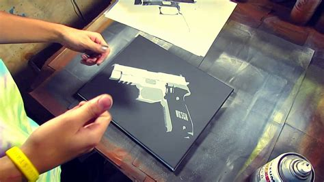 spray paint lessons tutorial tutorials tips tricks quot general stencil spraying quot by