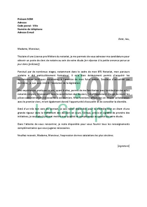 Lettre De Motivation Stage Notaire Lettre De Motivation Notaire Le Dif En Questions