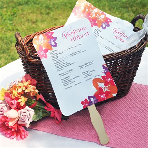 how to make wedding program fans diy wedding programs philadelphia wedding