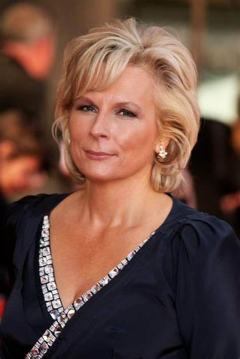 blonde hairstyles for over 50 jennifer saunders short blonde wavy hairstyle for women