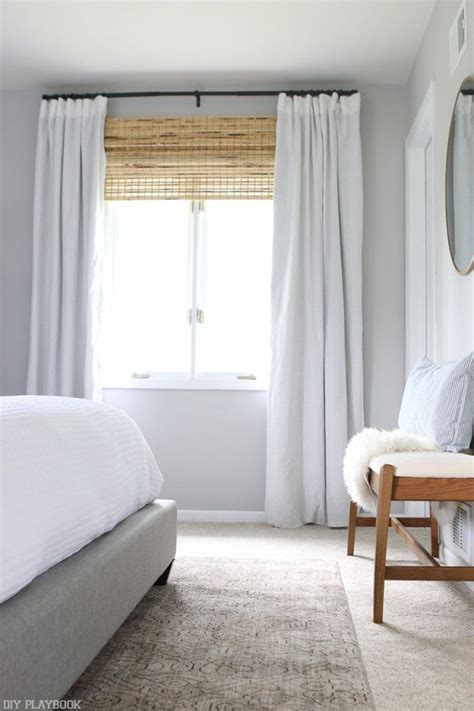 neutral bedroom curtains neutral bedroom reveal with lowe s home improvement
