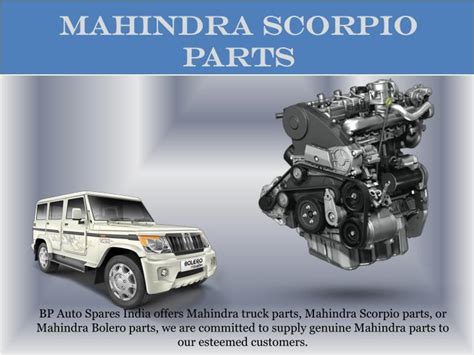 Spare Part Scorpio Z ppt buy mahindra spare parts bp auto spares india powerpoint presentation id 7510472
