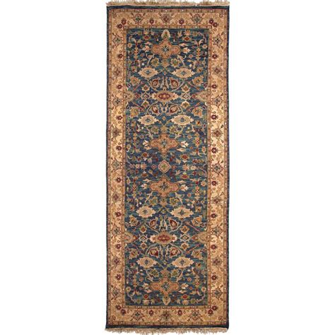 10 ft runner rug home decorators collection symphony green 2 ft 6 in x 10 ft rug runner 8768540620 the