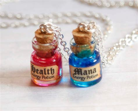 Keypop Translucent Mana Bottle Keycap mana and health bff necklaces potion in a bottle miniature