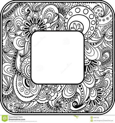 doodle templates abstract graphic vector ethnic pattern s border stock