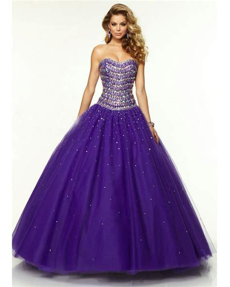 01 Princess Dress purple princess prom dress with crystals gown vestido