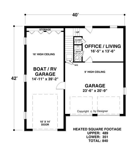 rv garage floor plans lower level floorplan image of boat rv garage office house plan my dream home pinterest