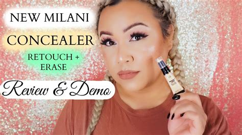 Millani Retouch Erase Light Lifting Concealer new milani concealer retouch erase light lifting 02 demo review