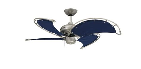 canvas blade ceiling fan unique ceiling fans voyager ss with blue canvas 8235
