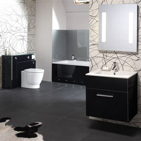 black and white bathroom suites ellis ikon gloss black ellis from homecare supplies uk