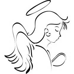 Halo Wall Stickers angel line drawing clipart best