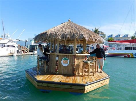 tiki hut boat for sale sail away in this floating tiki bar in key west