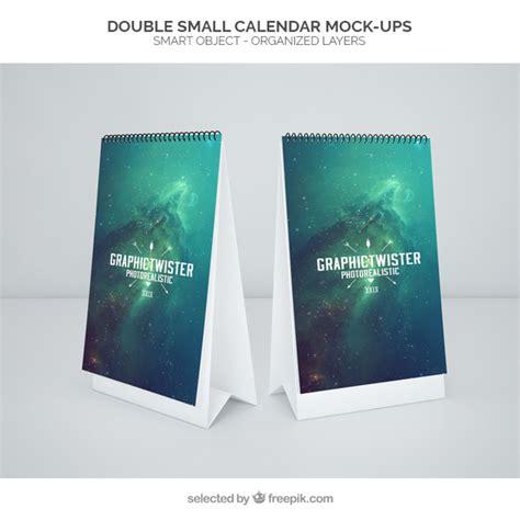 calendar design psd free download double small calendar mockup psd file free download