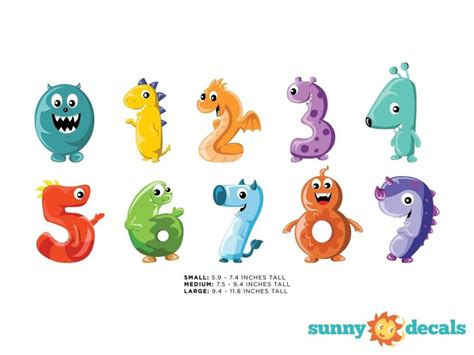 Wall Sticker Colorful Numbers numbers fabric wall decals colorful numbers from