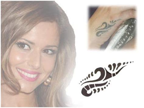 cheryl cole wrist tattoo cheryl cole tribal cole tattooforaweek temporary