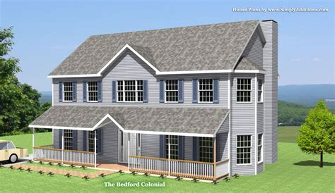 New England Style Home Plans by Bedford Modular Colonial House
