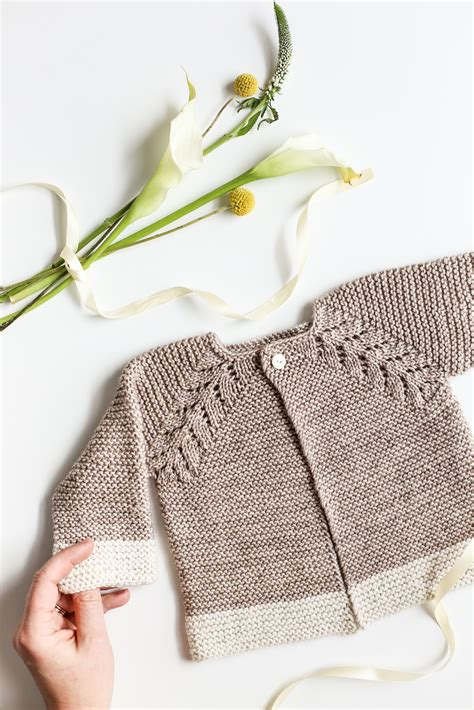 Pattern Knit Top lovely knit top cardigan baby sweater flax twine