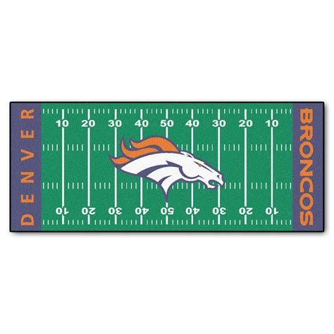 Kitchen Faucets Denver by Fanmats Denver Broncos 2 Ft 6 In X 6 Ft Football Field